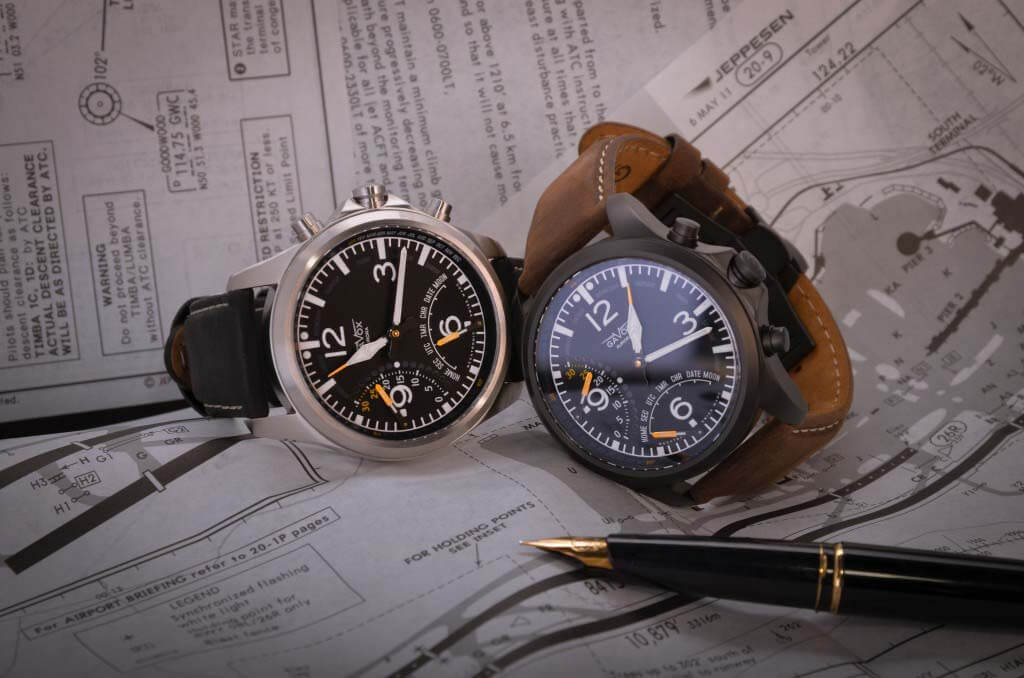 gavox aurora pilot quartz watch