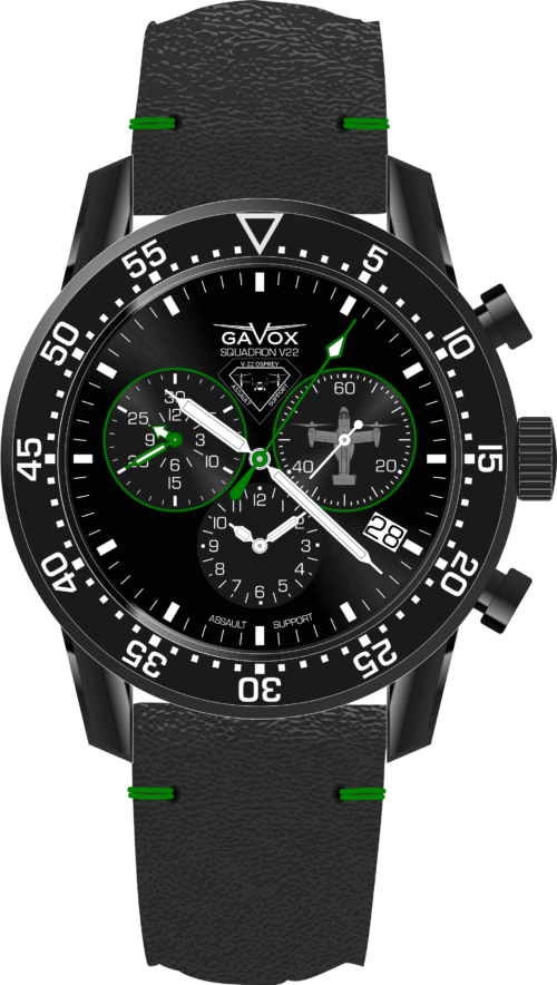 Gavox-20181224 OSPREY V22 Black Greenlight Top down 5130d